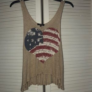 4TH OF JULY!!! American Flag  Tank Top❤️
